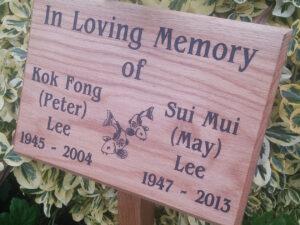 Wooden Crafts Memorials